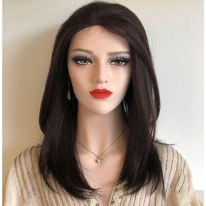 "16"" Dark Brown Lace Front Wig | Alexa"